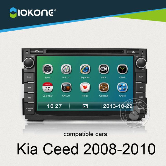 IOKONE Car Video Player For Kia Ceed 2008 2009 2010 With 3G,Radio,,Bluetooth,GPS,iPod,Steering Wheel Control