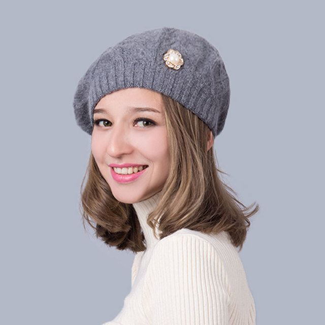 hat 2017 women's hats Winter warm wool knit fashion elasticity Female skullies beanies autumn Leisure wholesale Europe selling