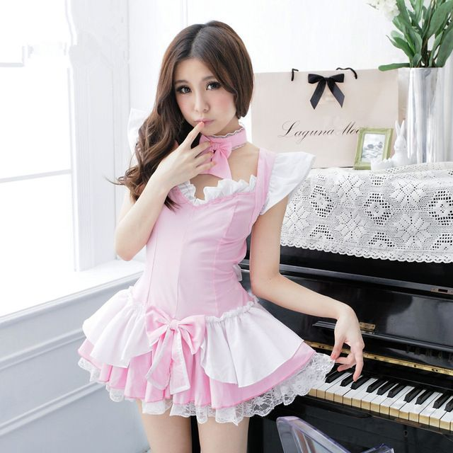pink princess dress for women pink maid dress sissy maid dress short maid dress halloween cosplay costumes carnival clothing