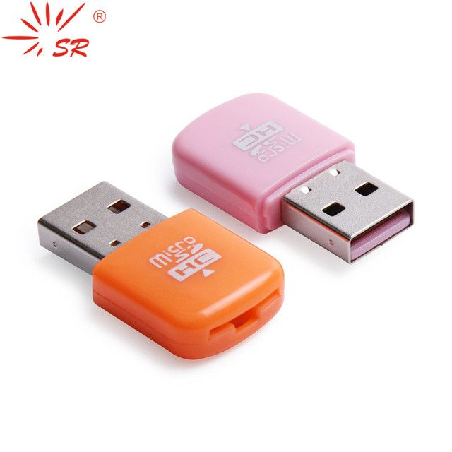 SR USB Card Reader Mini TF Memory Micro SD Card Readers Up to 64GB with 5 Colors