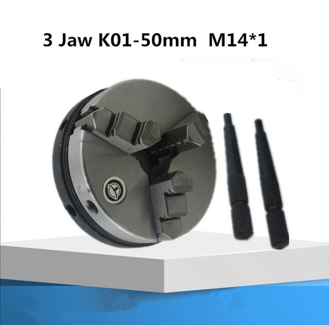 1PS 3 jaw  K01-50mm M14*1 mini lathe chuck mandril de torno mecanico	 mini lathe chuck