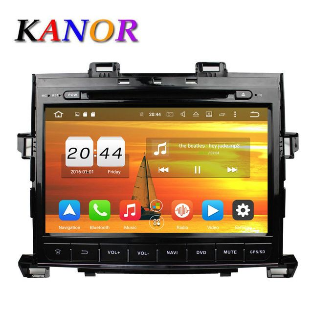 KANOR 2GB 8 Core Car Radio Android 6.0.1 For Toyota Vellfire Alphard GPS Navigation With Auto DVD Car Multimedia Player