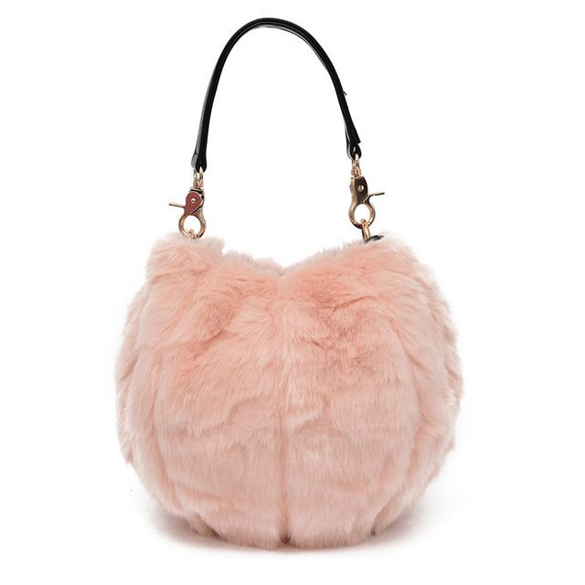 Faux fur plush children school bags kids travel messenger crossbody pouches bags bolsas femininas for kindergarten baby girls