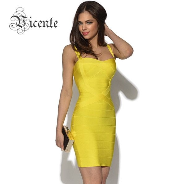 Free Shipping! MUST HAVE!!! Double Straps Sweet Heart Bodycon Slim HL Bandage Dress