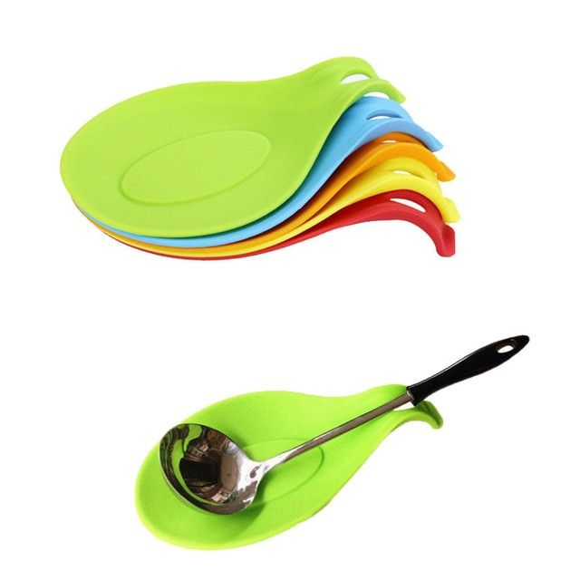 Kitchen Silicone Spoon Rest Heat Resistant Non-stick Silicone Cooking Tools Mat