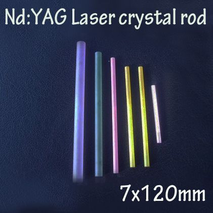 7x120mm Nd: YAG laser crystal rods