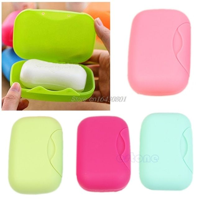 New Soap Dish Case Holder Container Box Travel Outdoor Hiking Camping Size L S08 Drop ship
