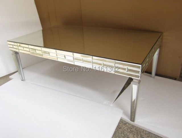 MR-401348 Mirrored living room furniture coffee table