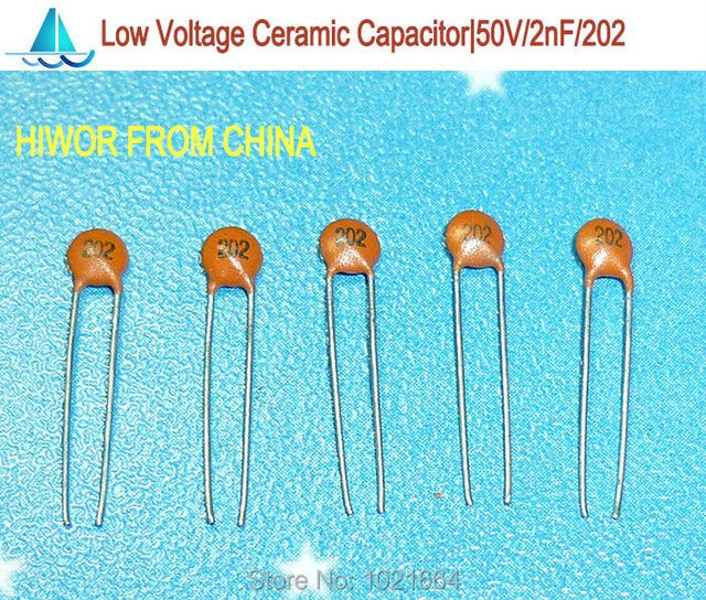 (1000pcs/lot)(Ceramic Capacitors|Low) 50V 2000pF 2nF 202, Low Voltage Ceramic Disc Capacitor, TOL.10%
