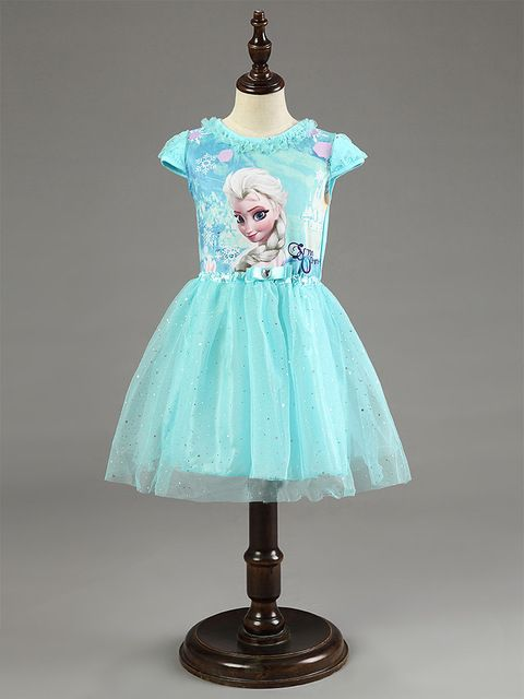 2017 New Elsa Anna Dress Girls Dress Cosplay Party Dresses Princess Children Baby Kids Baby Vestidos toddler Dresses