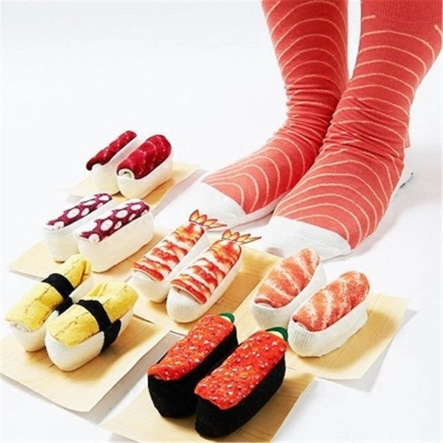 Wholesale fashion brand ideasox Japanese sushi food Harajuku creative gifts men and women couple cotton socks calcetines hombre