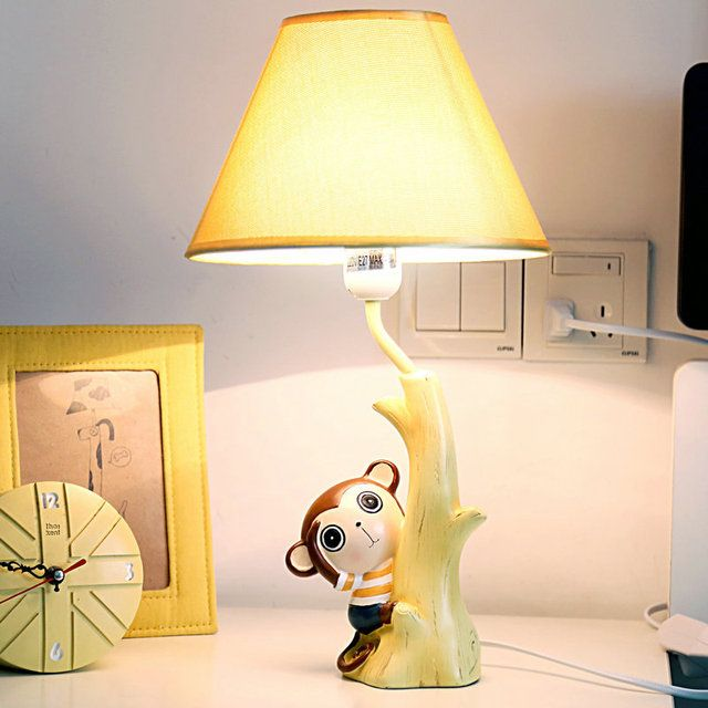 monkey lamp bedroom the head of a bed Warm light creative cartoon children cute boy students birthday gift Book Lights