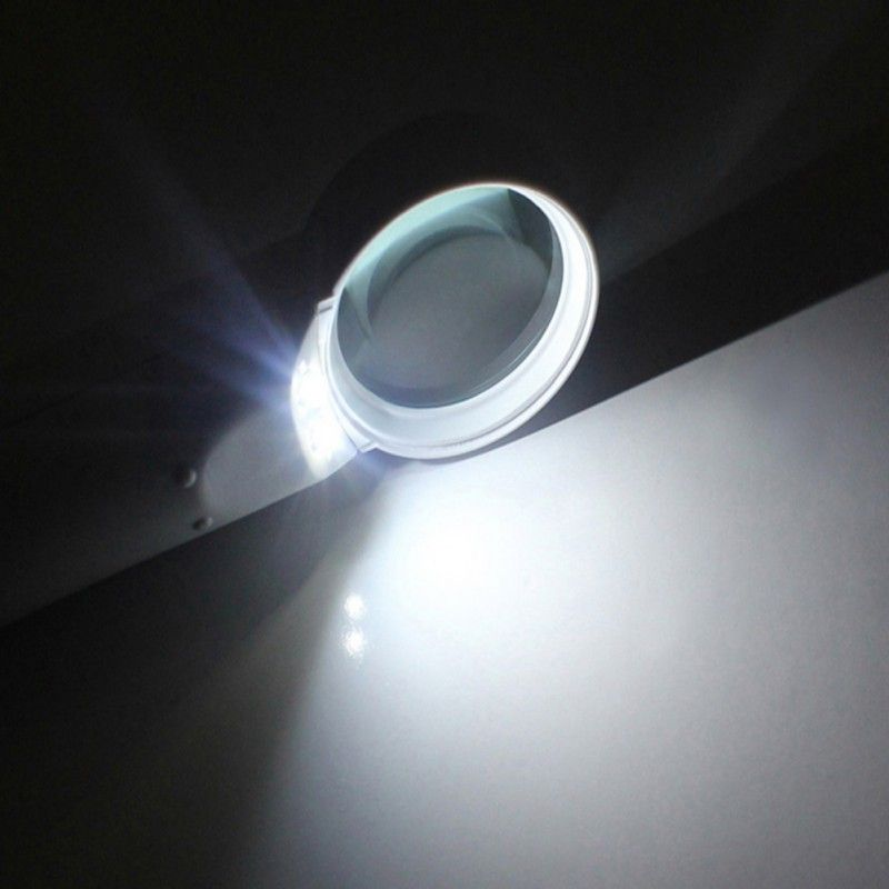 Handheld Illuminated Magnifier Reading Support 15X Magnification LED Lens Magnifiers