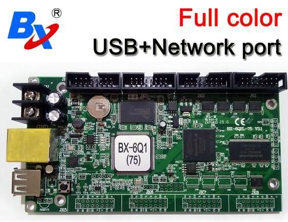 BX onbon BX-6Q1(75) Ethernet+USB Port 1024*64 pixel lintel full color controller Asynchronous Replace BX-5Q1