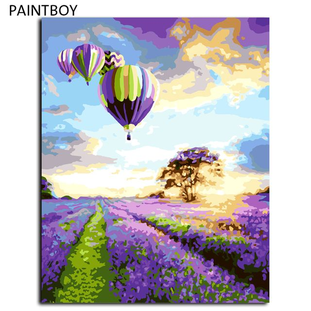 Abstract Landscape DIY Painting By Numbers Painting Wall Frameless Pictures Digital Canvas Oil Painting Home Decoration G043
