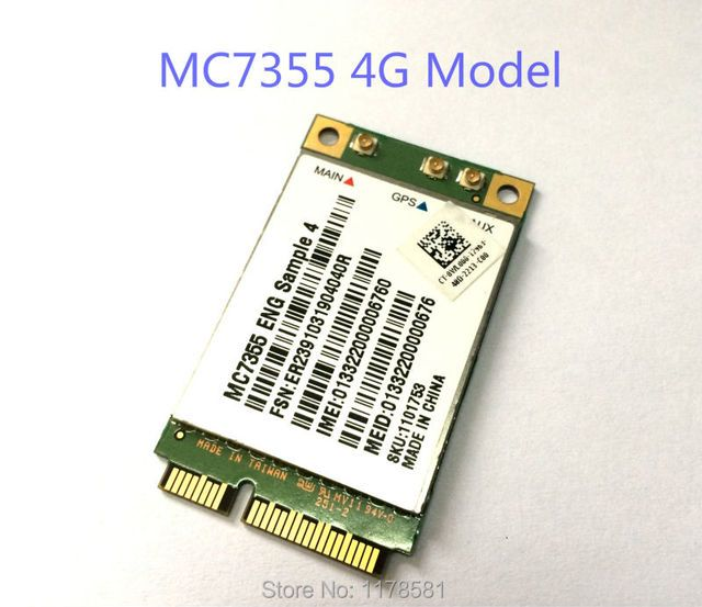 MC7355 Sierra Wireless Mini PCI-E LTE 4G QUALCOMM WCDMA GSM GPRS GNSS Module stock