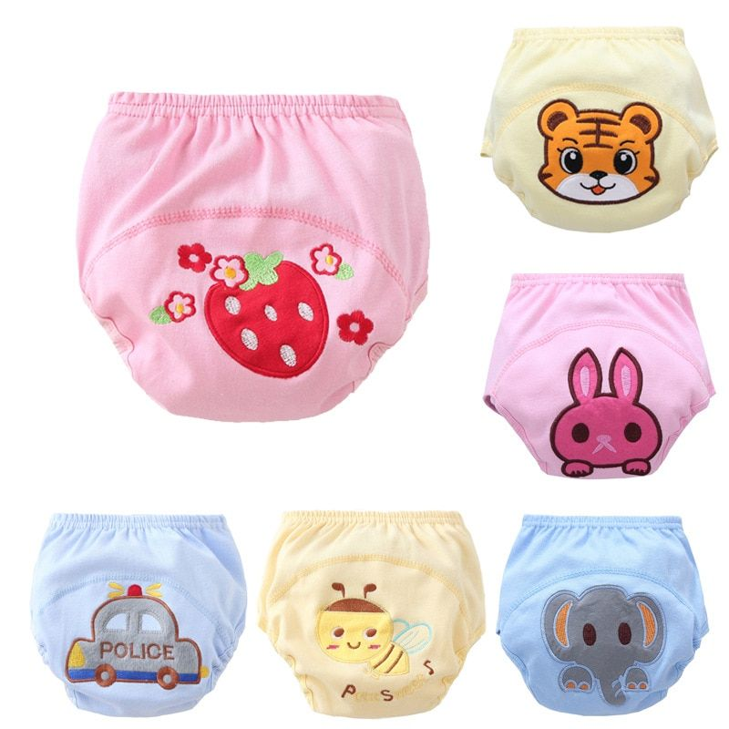 5pcs Cartoon Baby Cloth Diaper Cover Toddler    Training Pants Waterproof Diaper Pant Reusable Cloth Diaper NK03