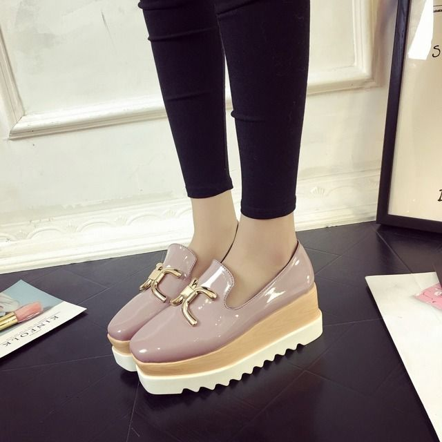 2017 New Waterproof Women Flats Autumn Casual Flat Heel Pink Shoes Woman Fashion soft Ladies Metal High Quality Jeans Shoe