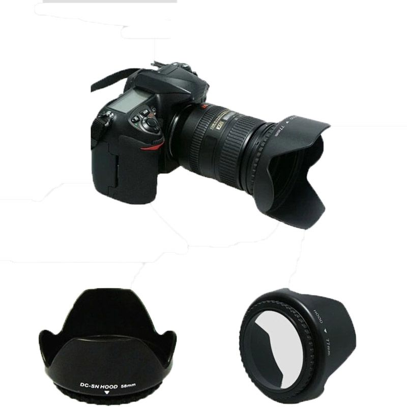 lens hood   D3200 D3100 D5200 D3000 Camera Lens Hood 52mm Bayonet Fits for nikon nikor AF-S DX 18-55mm f/3.5-5.6G VR II 52  Lens