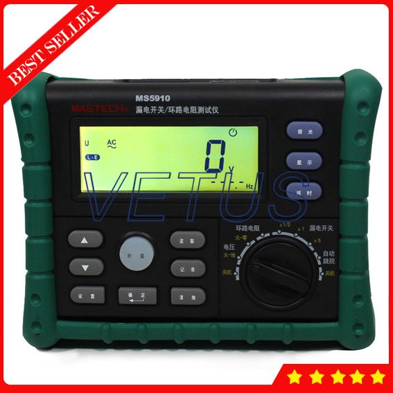 MS5910 Digital RCD Loop Tester with USB Interface