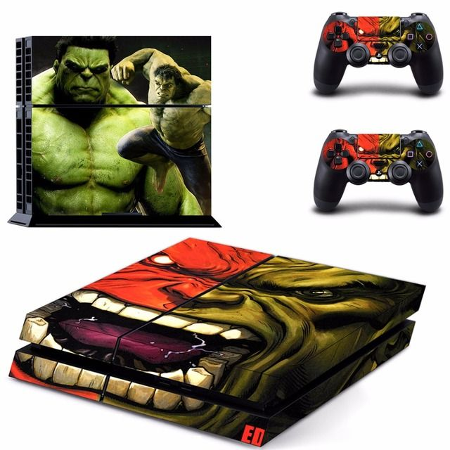 Hulk Hero Logo Cover Decal PS4 Skin Sticker for Sony Play Station 4 Console & 2 Controller Skins