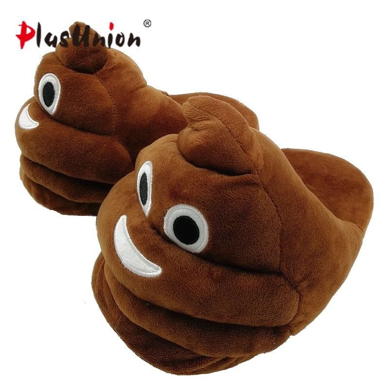 plush winter emoji slippers indoor animal furry house home men slipper with fur anime women cosplay unisex cartoon shoes adult