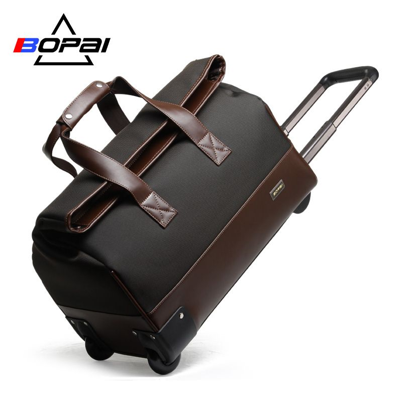 Unisex Trolley Travel Bags On Wheels Waterproof men's trolley luggage travel duffle bag 2017 maletas de viaje con ruedas