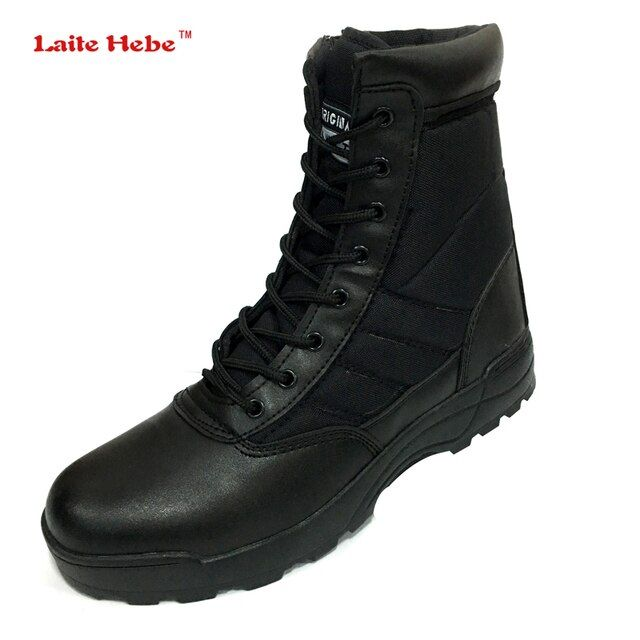 Laite Hebe 2017 New US Military Genuine Leather Boots For Men Combat Delta Tactical Boots Askeri Bot Army Bots Swat Shoes 37-46