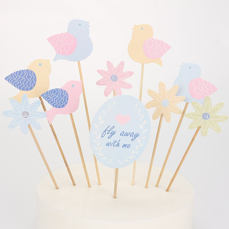 Bird Party Toppers Cake Wrappers Toothpick Toppers Cake Accessory