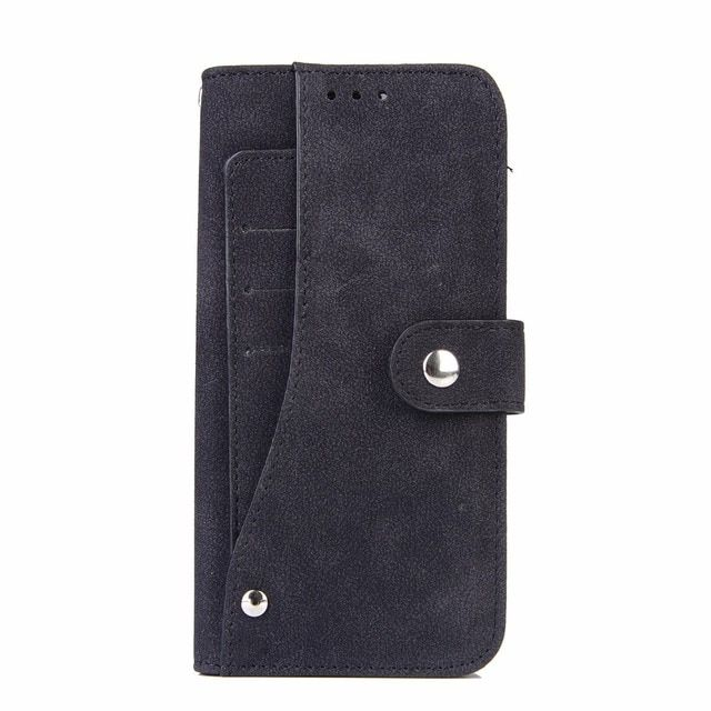 Vintage Dull Polish PU Leather Wallet revolving Card Holder Stand Case For Samsung Galaxy S7/S7 Edge Flip Phone Bag