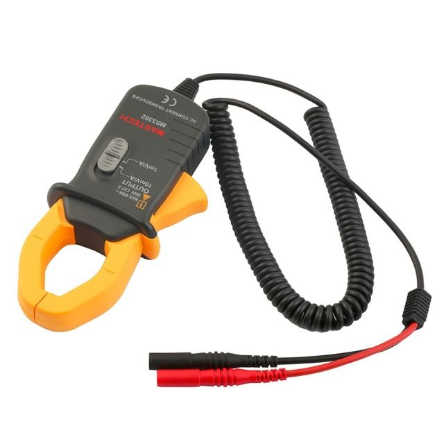 1Pc Pro Mini MASTECH MS3302 AC Current Transducer 0.1A-400A Clamp Meter Test