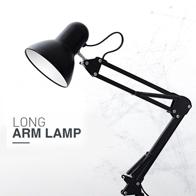 American Style Eye Protection Long Arm Reading Desk Lamp - 5W E27 LED