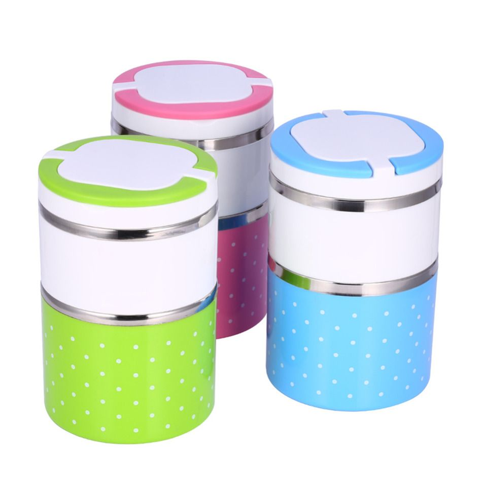 High Quality Cartoon  dinner box Food Container Stainless Steel Insulation Bento Thermo Thermal dinnerware set Box