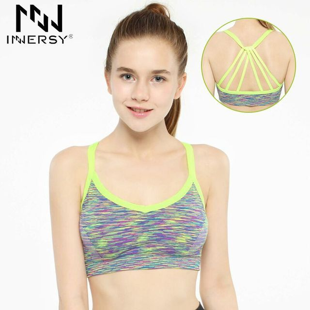 Innersy Back Tassels design Women Sports Yoga Top Bra Underwear Quick Dry Seamless Fitness Gym Running Yoga Shirt OR-219