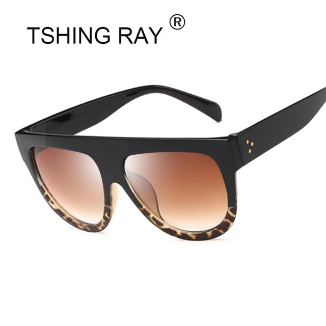 TSHING RAY 2017 Flat Top Shield Sunglasses Women Fashion Brand Designer Superstar Shades Celebrity Sun Glasses For Ladies Female