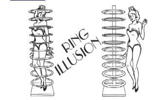 Magic Tricks/ Ring Illusion Stage Magic/Magic Props/Large Magic
