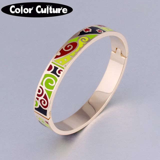 Opening Bracelet Bangle for Women  Ethnic Colorful Enamel Jewelry 2019 indian wedding bangles