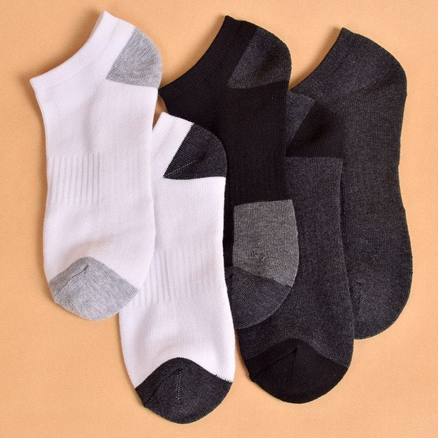 5 pairs/lot Unisex New Boat Socks Men Classical Solid Color Low Cut Casual Socks Anti-sweat Breathable Quick Dry Slippers