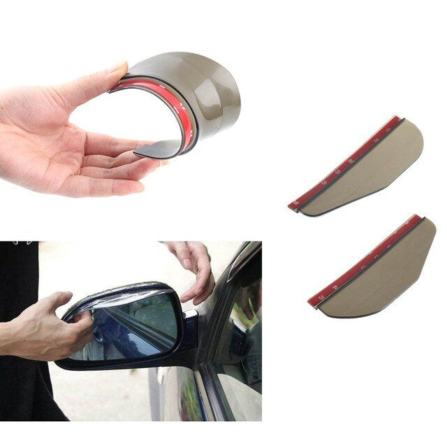 2pcs super Rear View Side Mirror Rain Board Sun Visor Shade Shield Flexible Protector For Car Truck Suv Car Styling car sticker