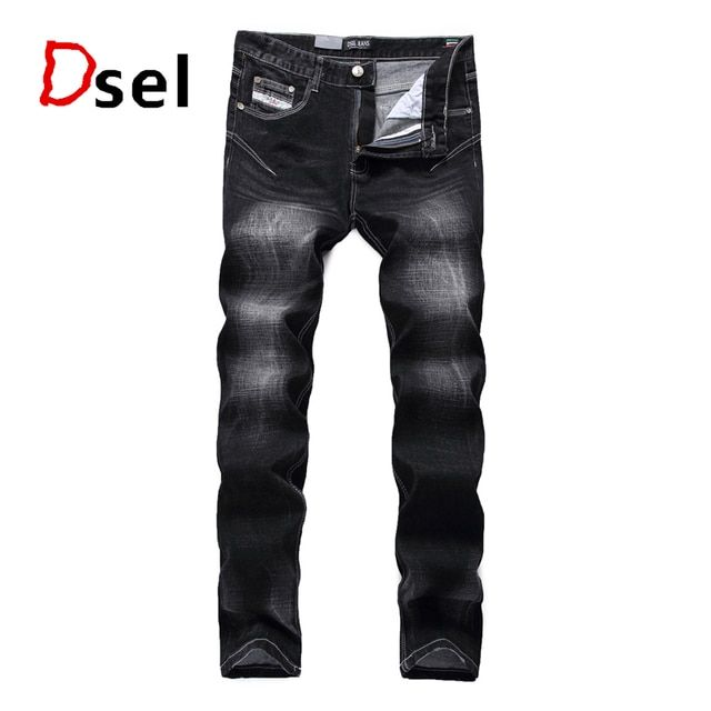 2016 Star Style Beckham Jeans Men High Quality Black Printed Jeans Trousers Famous Logo Brand Dsel Jeans Slim Denim Pants H702