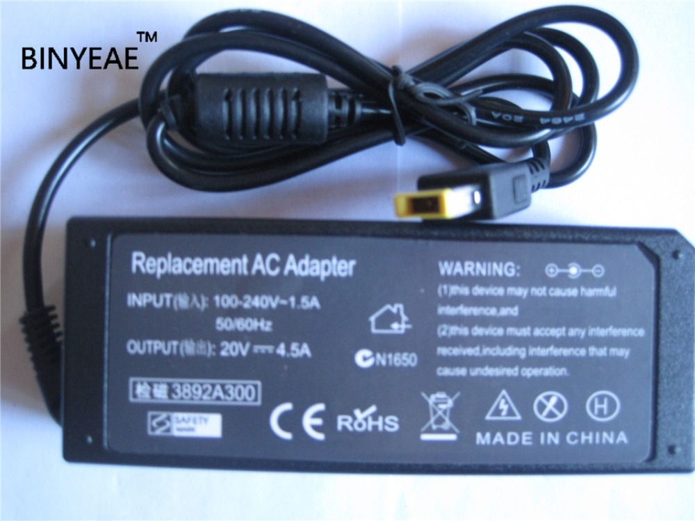 20V 4.5A 90W AC Laptop Power Charger Adapter For Lenovo IdeaPad S210 Touch S510p U330p U430 U430p