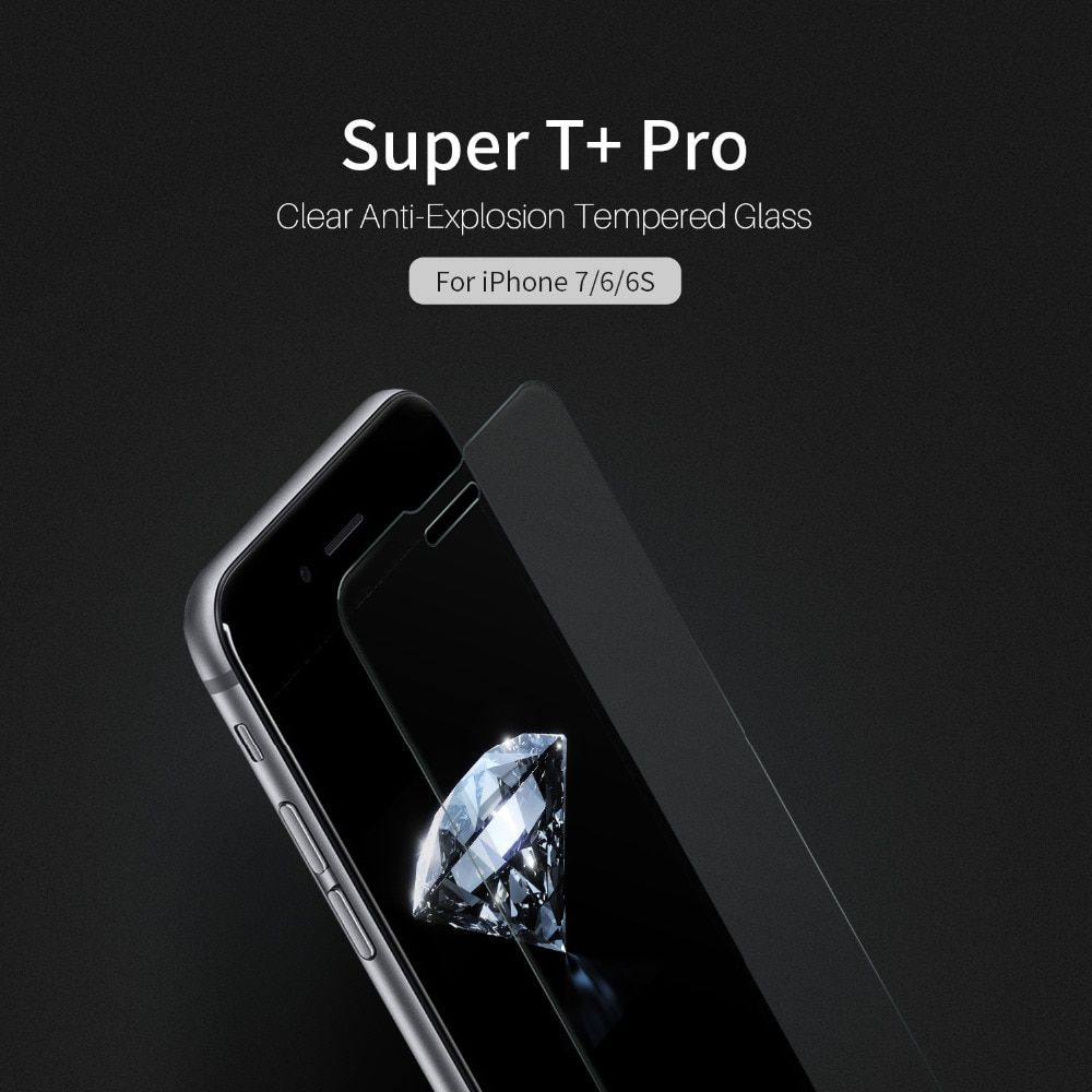 NILLKIN Super T+ Pro Clear Anti-Explosion Tempered Glass 9H 2.5D UV Filter Support 3D Touch For iPhone 6S / iPhone 7