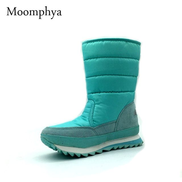 Plus size 35-42 women boots shoes woman Non-slip windproof rain boots Leisure Various color winter Snow Boots 10 color
