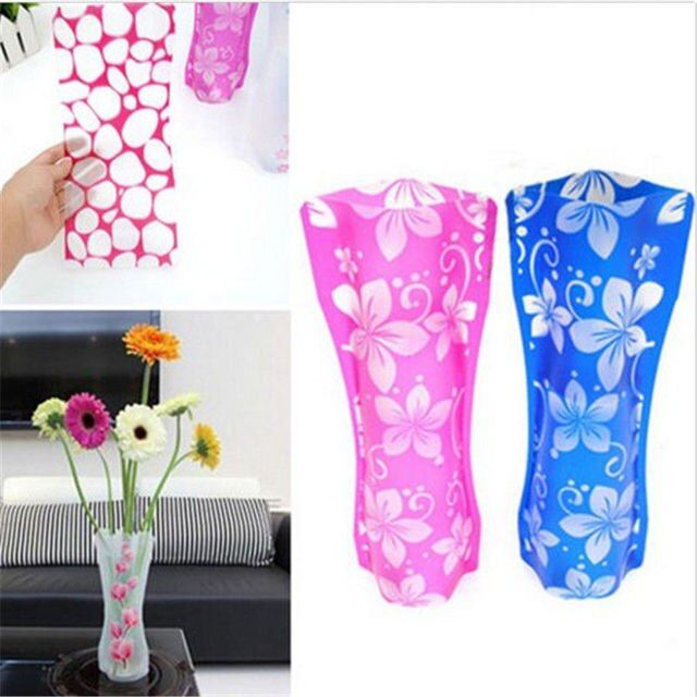 OnnPnnQ Folding Flower Vase Fish Tank Foldable Rose Flowers Home Office Wedding Party