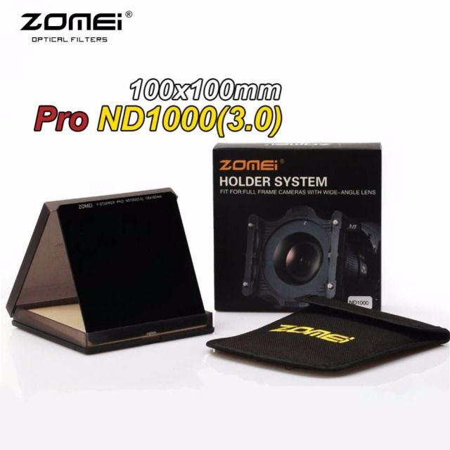 Zomei Pro 100mm ND1000 ND3.0 Square Filter 100x100mm Neutral Density 10-Stop Optical Glass Full Gray MC HD ND Filter For Cokin Z