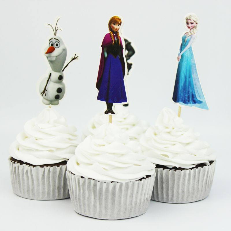 Frozen 24pcs  anna  Cupcake Topper Picks,birthday/wedding party decorations,kids evnent party favors,Party decoration