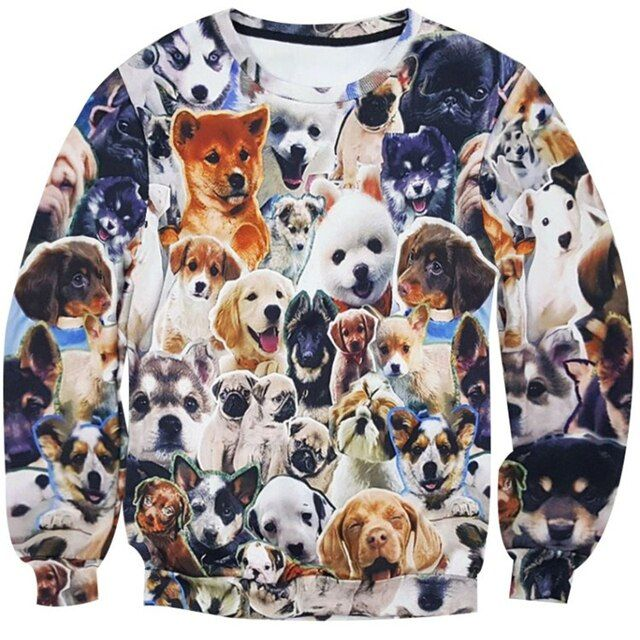 Hot Fashion Jumpers much dog animal  print 3D Sweatshirt Men Women Cute dog funny casual Sweatshirts plus size M-XXL