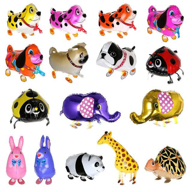 Foil Balloon Walking Animal Elephant Pekingese Balloons Pet Toy Party Birthday