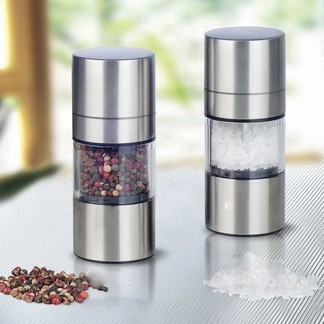Manual Pepper Mill Stainless Steel Salt Grinder Muller kitchen accessories Kitchen Tool kitchen gadgets Spice Sauce Grinder