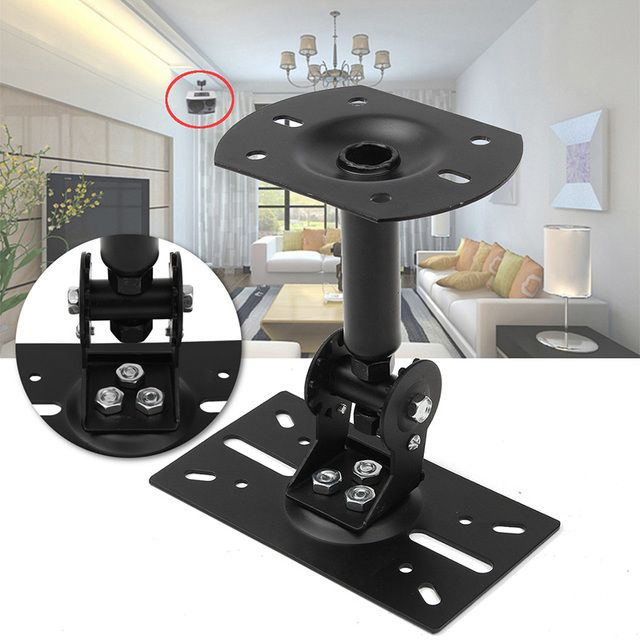 19/27.5CM Adjustable Steel Speaker Brackets Ceiling Wall Mount Stable Brackets 45Kg Loading Holder For Home Theater KTV Speaker